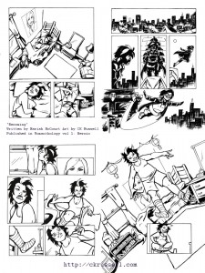 "Womanthology Heroic - ""Becoming""  pg 1-4 (inks)"