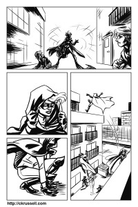 Knights of Shadow 01 pg 2 (ink)