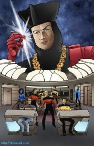 Star Trek Q/Pocard poster